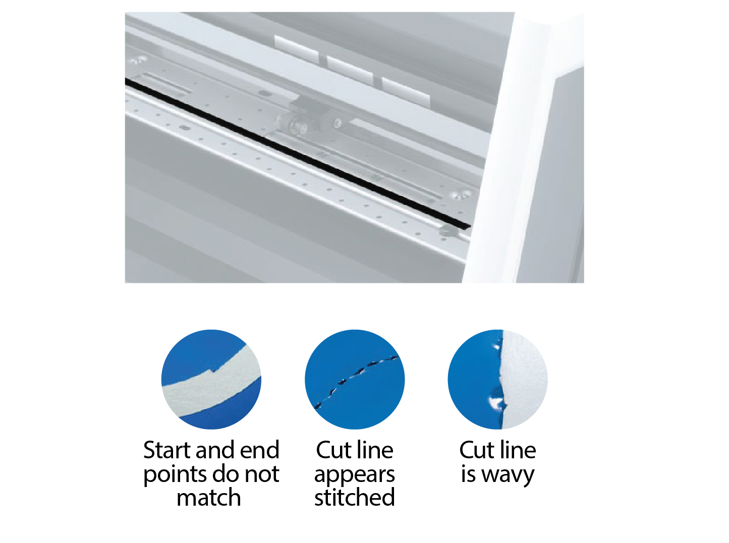 Symptoms of a bad cutter protection strip