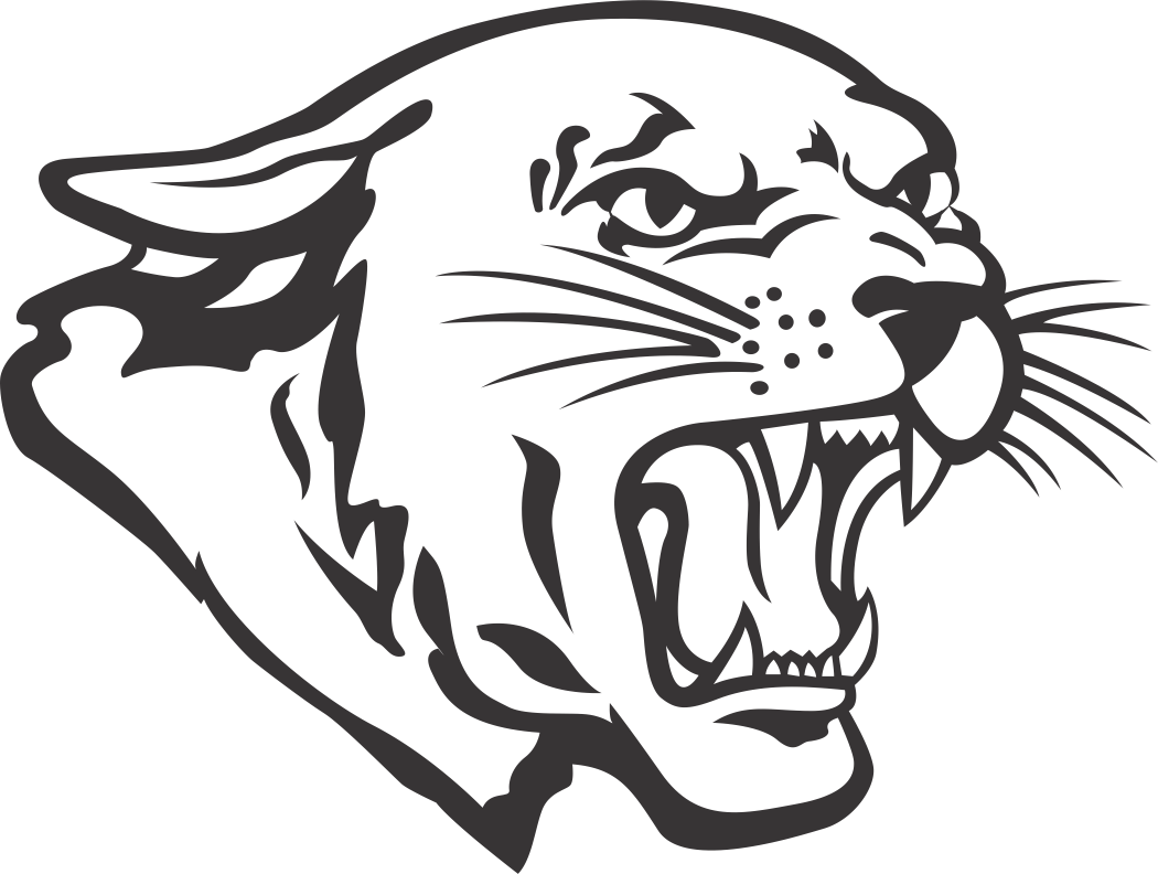 1 color Cougar mascot