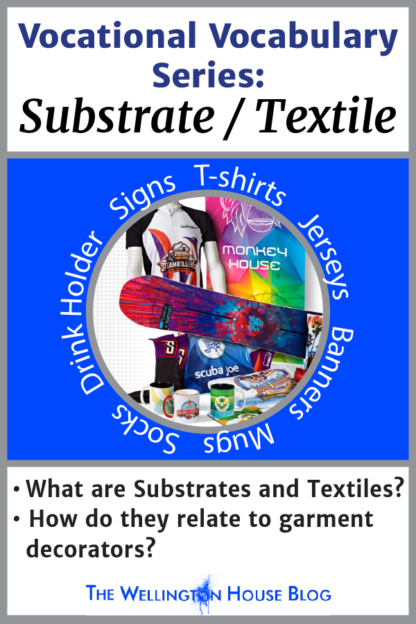 Blog Article Cover: Vocational Vocabulary Series: Substrate & Textile. What are they and how do they relate to garment decorators?